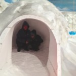 in the igloo in the cool room