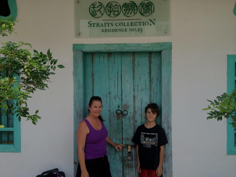 sal & kai at the front door