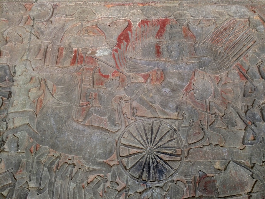 carvings in the sandstone....