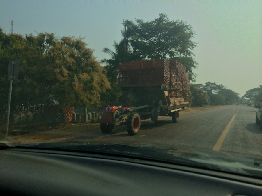 same type of tractor with big load!