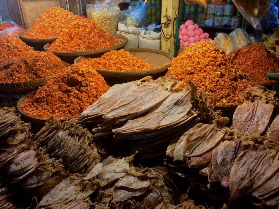 dried squid & shrimp