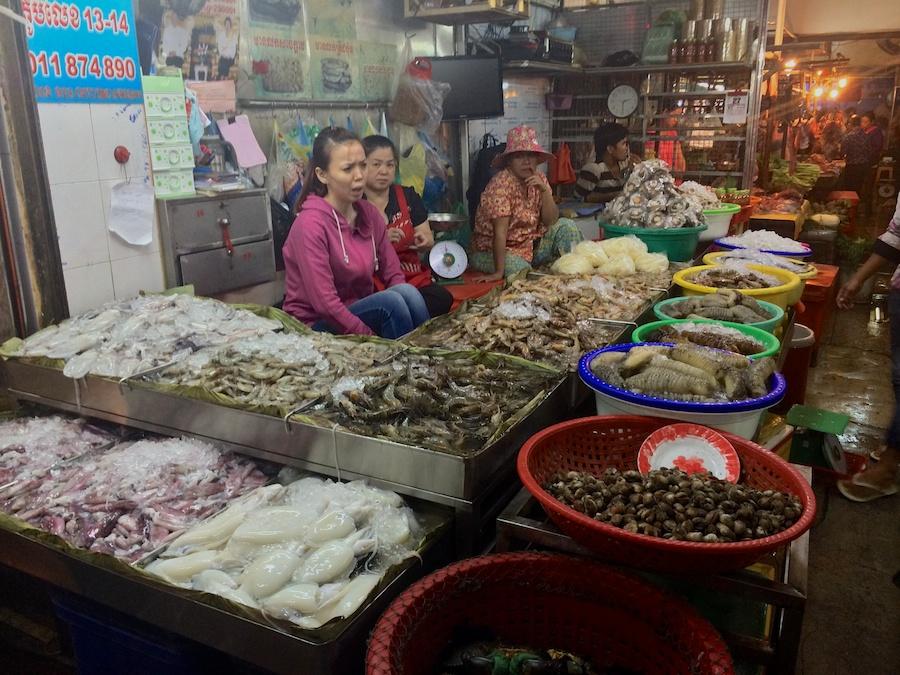 shrimp, squid, pippies