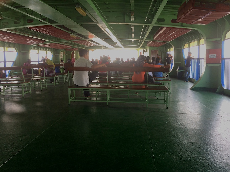 on the ferry to butterworth