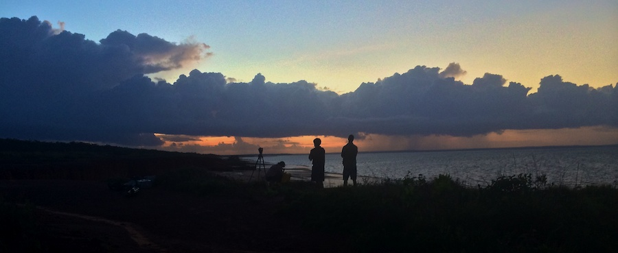 crew shooting sunrise