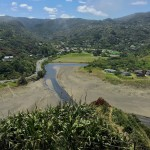 looking back towards piha village