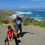 kai listening to andy tell the story of the maori arriving in NZ - at hokianga