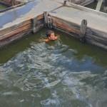 chillaxing in the warm pool