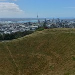 across the crater of mt eden to auckland