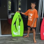 kai showing off his new board!