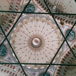 detail of the ceiling in fatih mosque