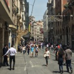 İstiklal Caddesi looking up to Taksim square