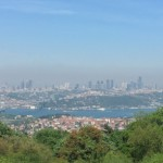 looking back down over istanbul