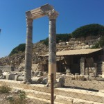 what was a row of shops in knidos