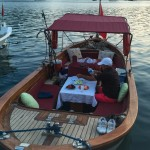 dinner afloat beside our table