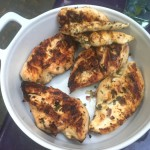 chicken from the grill (using peter's recipe from last week!)