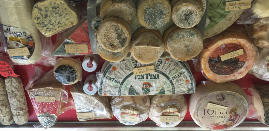 all the cheeses, smelly, old & mouldy!