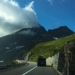 on the road to the alps
