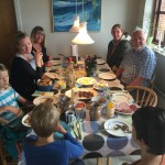 traditional danish lunch with mie's parents at their summer house