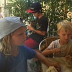 benji, kai & jonas enjoying a gelato