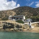 a little greek beach shack on the beach!