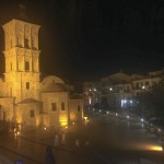 the chuch at night