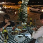 dinner on the larnaca waterfront
