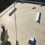mounting blocks silasticed to roof