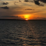 sunset over cotton island