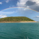rainbow over bosenquet islet