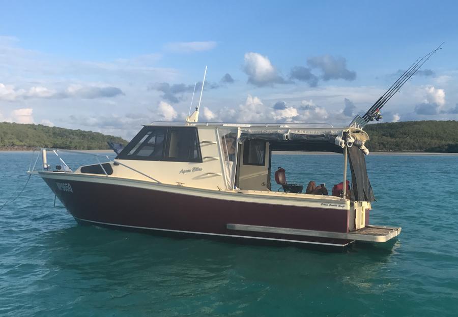 anchored off bosenquot islet