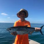 kai with a tuna