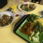 ginger pork, mutton biryani, chook curry