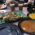 murtabak, mutton curry & dahl