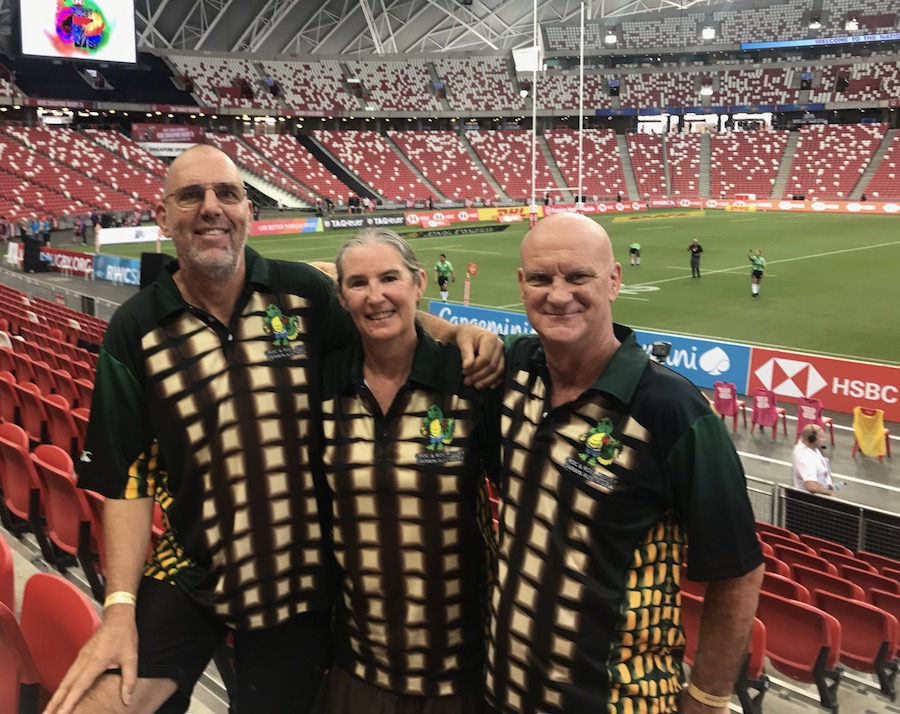 myself, sal & dave in our darwin crocs jerseys