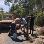 concreting in the posts